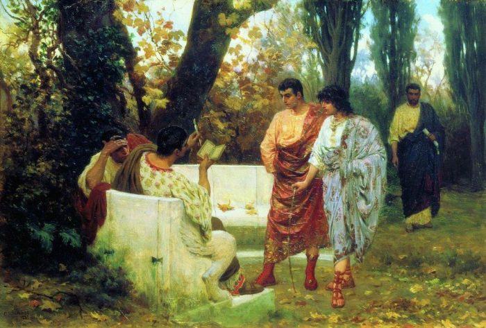С. В. Бакалович. Римский поэт Катулл, читающий своим друзьям