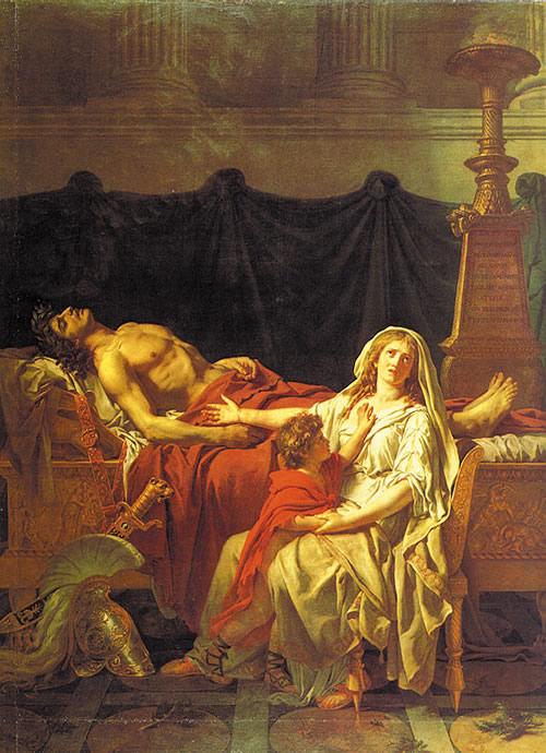 Ж.Л.Давид. Андромаха оплакивает Гектора. (1783г.)