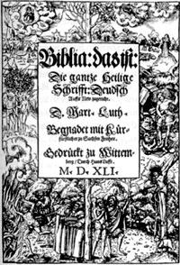 Титул первого издания  лютеровского перевода  Нового Завета