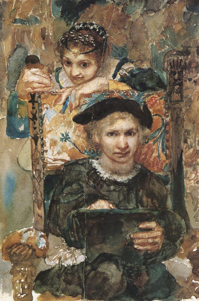 Врубель. Гамлет и Офелия. 1883