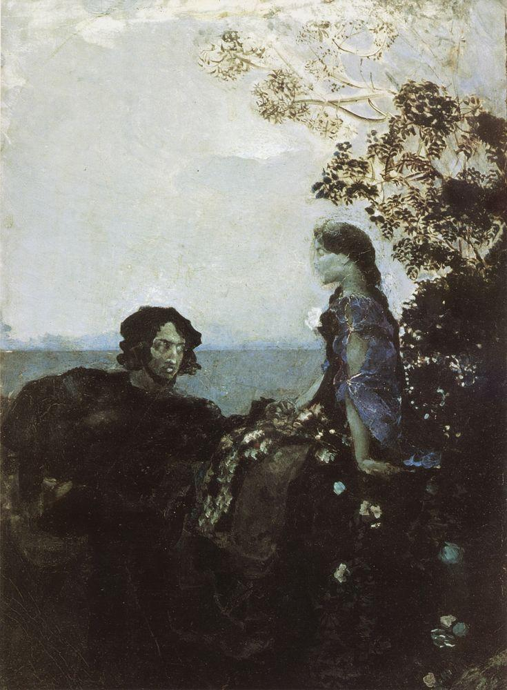 Врубель. Гамлет и Офелия. 1888