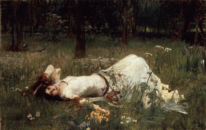 Дж.УОТЕРХАУЗ.Офелия. 1889