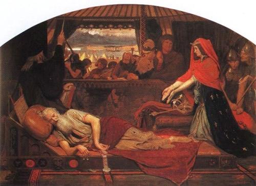 Ф.М.Браун. Лир и Корделия. 1854