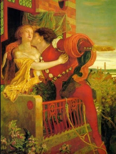 Ф.М.Браун.Ромео и Джульетта. 1870