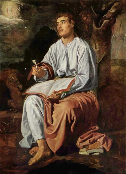Диего Веласкес.  Диего Веласкес. Евангелист Иоанн на Патмосе. 1619-1620