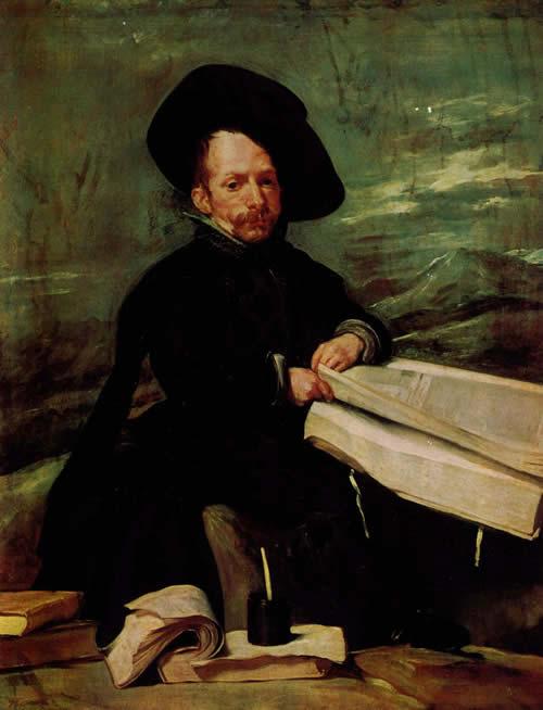 Диего Веласкес.  Портрет придворного шута по прозвищу Эль Примо. 1644