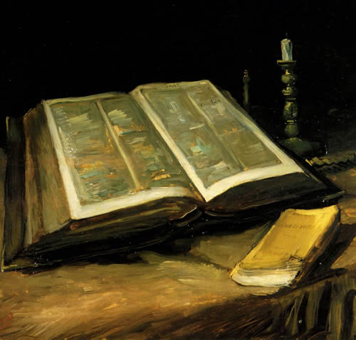 Винсент  Ван Гог. Натюрморт с библией. 1885