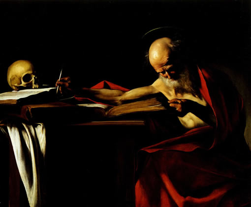 Караваджо. Пишущий св. Иероним. 1606
