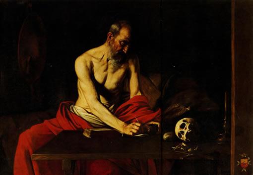 Караваджо. св. Иероним. 1607