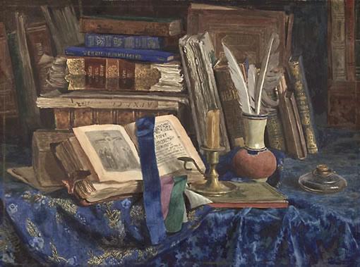 С. Андрияки Старые книги с синим бархатом. 1997