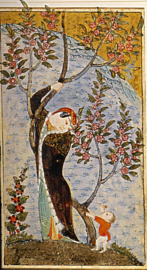 1480.  Anthologie poetique persanne, Femme et enfant  Herat