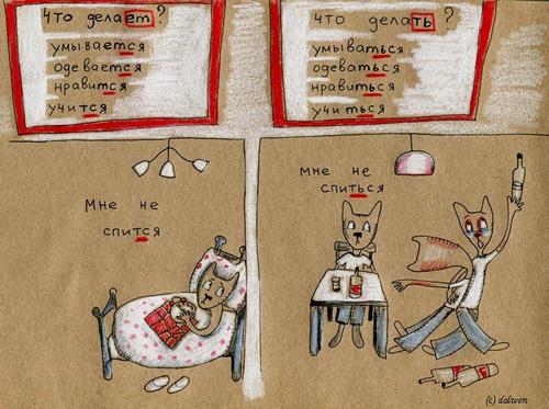 русский язык в котах