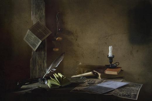 С картой и книгами