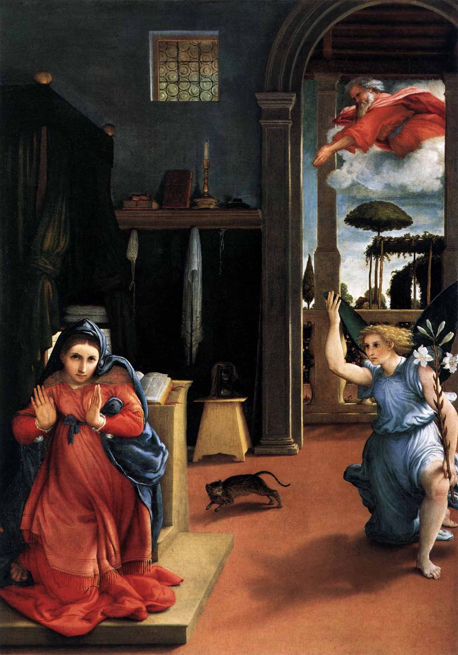 Лоренцо Лотто. «Благовещение»