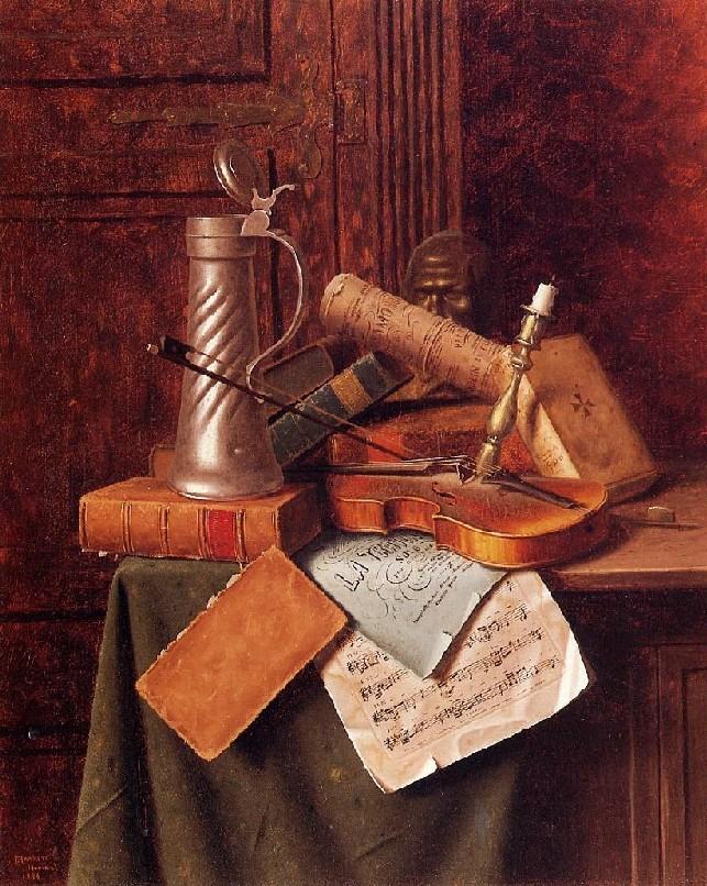 Уильям Майкл Харнетт. Мюнхенский натюрморт. 1884