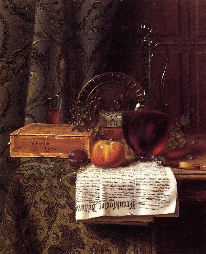 Уильям Майкл Харнетт. Натюрморт. 1881