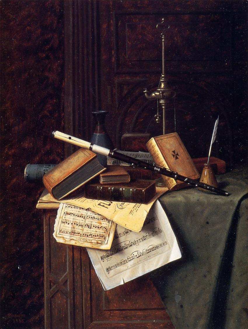 Уильям Майкл Харнетт. Натюрморт. 1885
