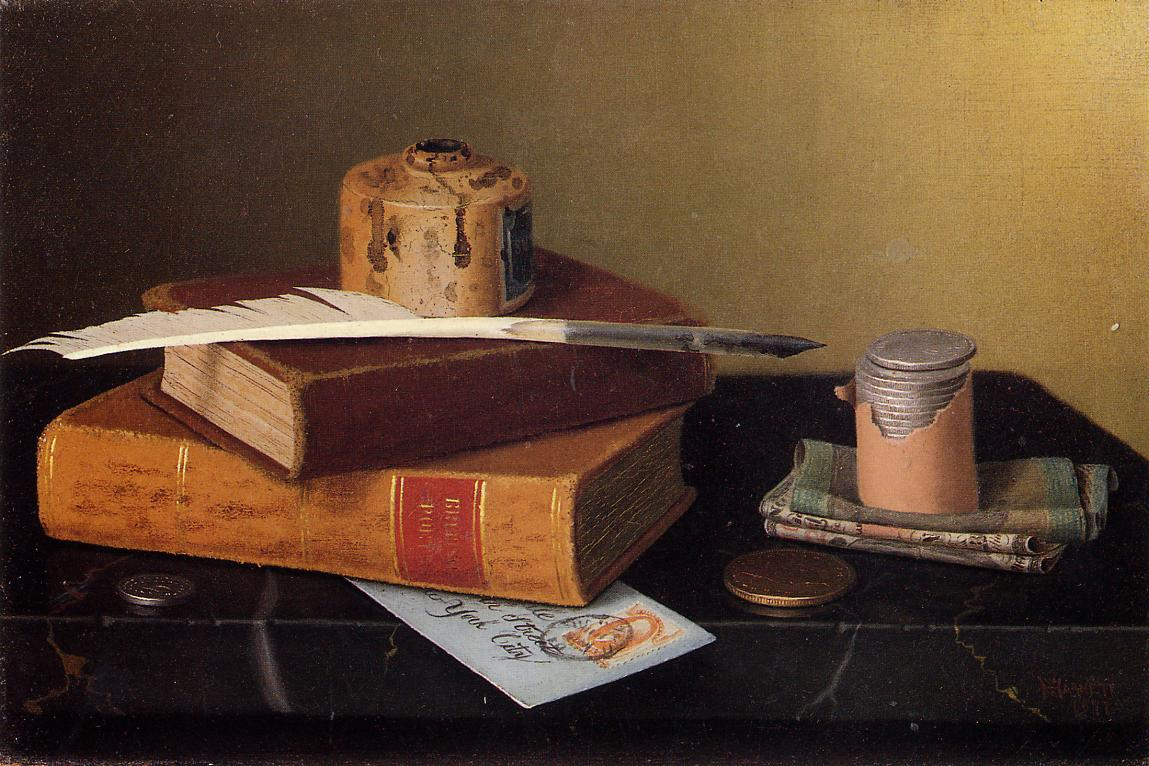 Уильям Майкл Харнетт. Стол банкира. 1877