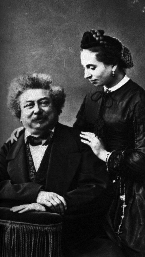 Александр Дюма с дочерью