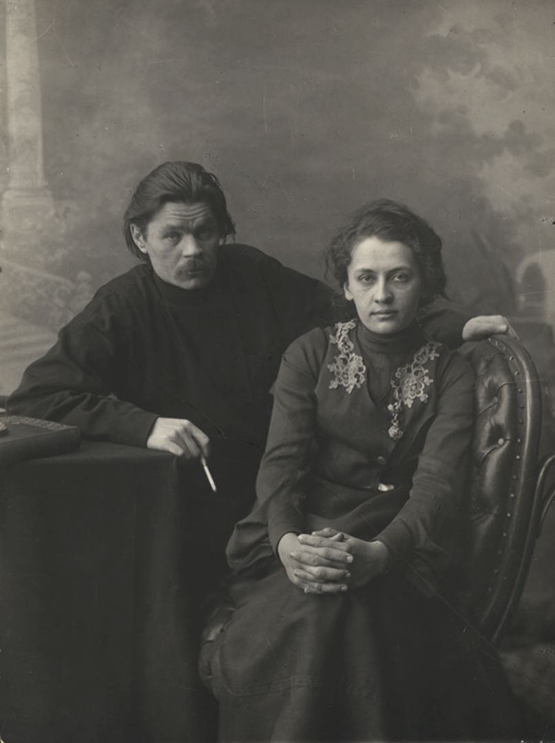 maxim-gorky-with-wife2